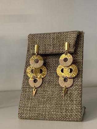 Natura 18Kt and natural fiber earrings