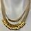 Thumbnail: Natura 18Kt triple strand necklace