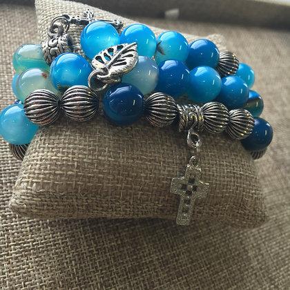 Blue Agate Expandable Set