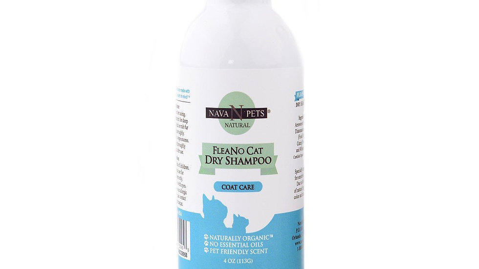 Organic Cat Dry Flea-no Shampoo  4OZ