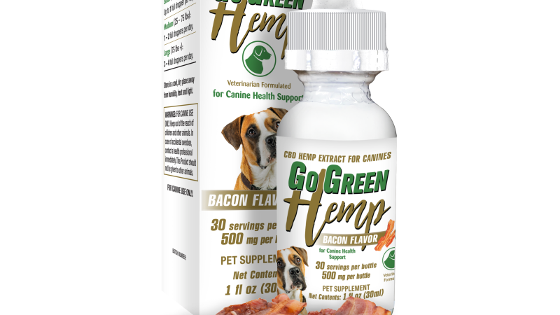 GoGreen Hemp CBD Dog Bacon Canine Tincture 500mg