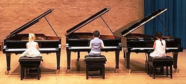 Little Playmates 3 pianos at CSYM Summer