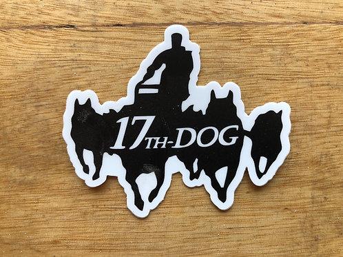 Die-Cut 17th Dog Sticker