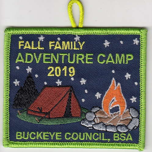 Glow in the Dark Family Adventure Camp Patch