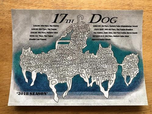 17th Dog Postcard