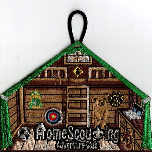 Metallic HomeScouting Adventure Club Patch