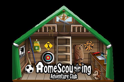 Metallic HomeScouting Adventure Club Patch