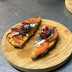 Spanish Anchovies, Tomato, Spanish Red Capsicum & Extra Virgin Olive oil