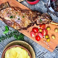 Whole Roast Lamb and Roast Potatoes