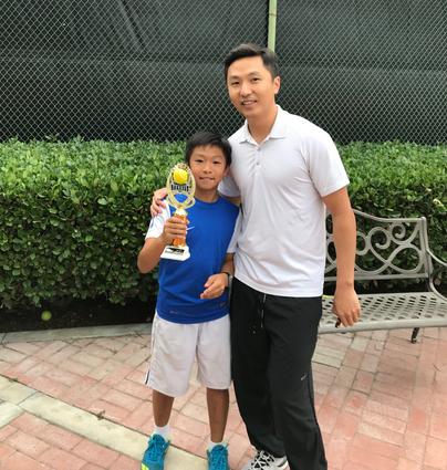 Evan Zhang and Dad, John.