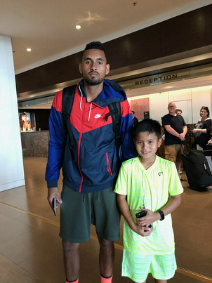 Nick Kyrgios and Payton Nguyen