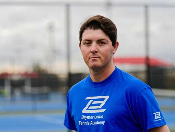 Ryan Blanchette, tennis professional, is part of the Brymer Lewis Tennis Team based at the Orange County Great Park in Irvine, Southern California.
