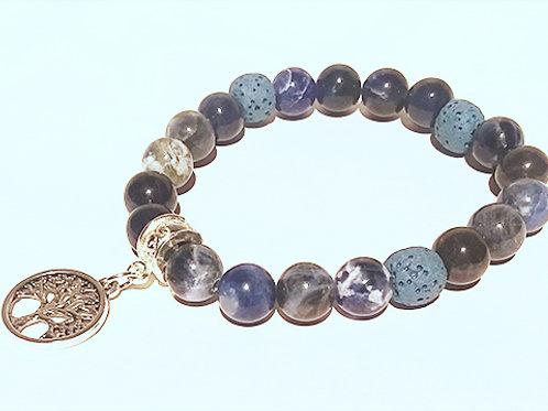 Sodalite Diffuser Bracelet - Calms the Mind