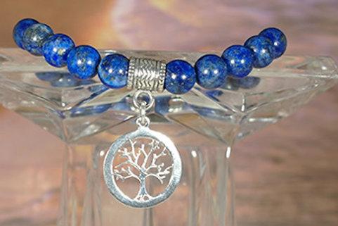 Lapis Lazuli Tree of Life Bracelet - Meditation