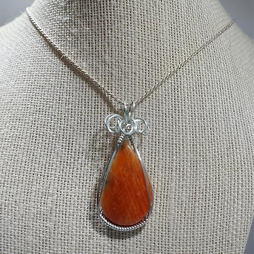 Orange Amazonite Pendant