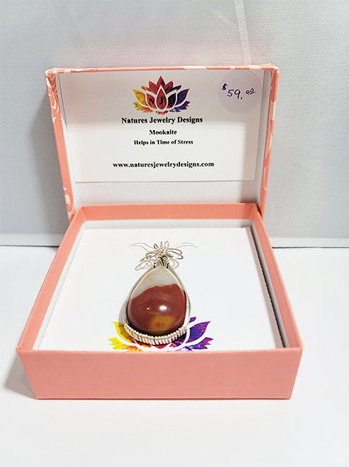 Mookaite Pendant - Helps in Time of Stress
