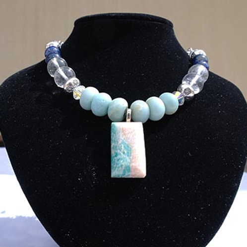 Amazonite & Lapis Lazuli Intutitive Necklace