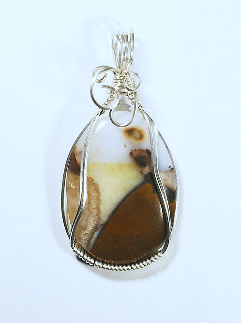 Brown Banded Onyx Pendant