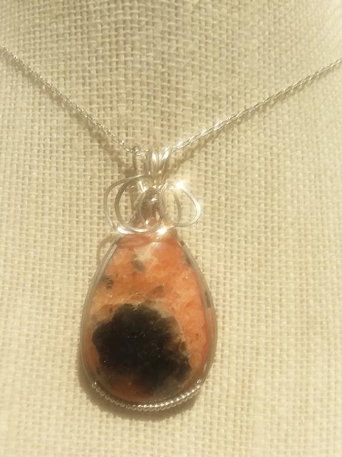 Pink Aventurine Wire Wrapped Pendant - Helps to understand oneself