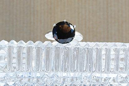 Smokey Quartz Sterling Silver Setting Ring