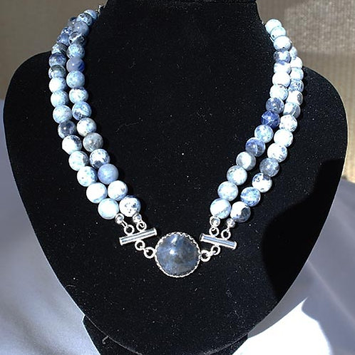 Sodalite Two Strand Necklace -Calms the Mind