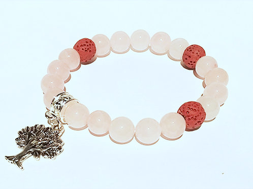 Rose Quartz Diffuser Bracelet -Love