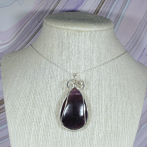 Amethyst Wire Wrapped Pendant  - Meditation