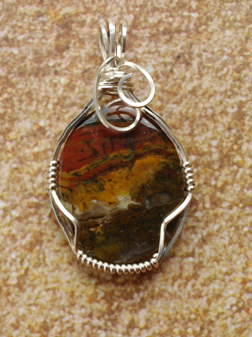 Brown Fancy Onyx - Helps the body to connection to the earth