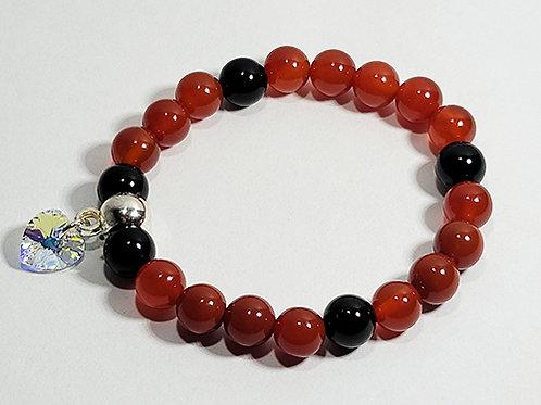 Carnelian and Black Onyx Bracelet - Grounding