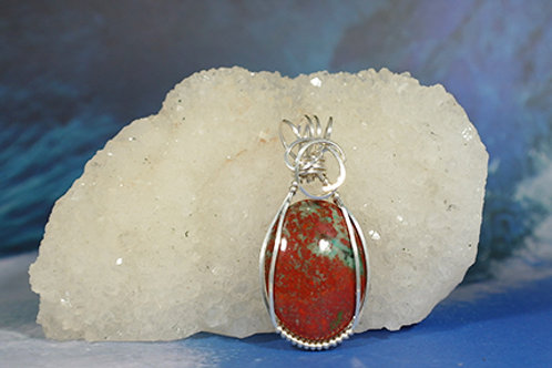 Sunset Jasper Pendant - Alleviates stress and induces tranquility