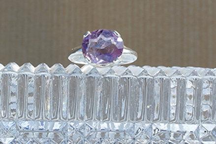 Amethyst Sterling Silver Ring - Meditation