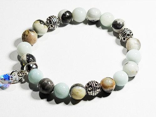 Rainbow Amazonite Bracelet -Aligns the body to the etheric Body