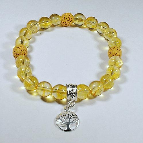 Citrine Diffuser Tree of Life Bracelet - Prosperity