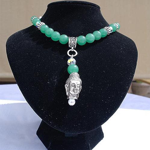 Aventurien Buddha Head Necklace   000280