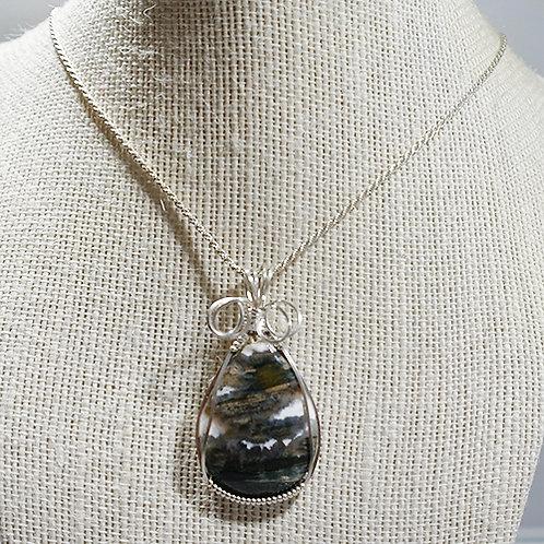 Gray Ocean Jasper pendant