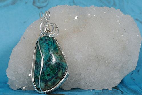 Chrysocolla pendant - Energies the chakras