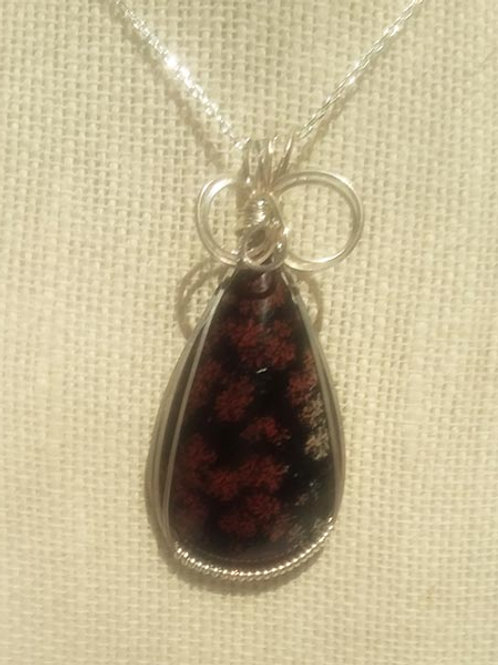 Cherry Bloosom Wire Wrapped Pendant -Abundance