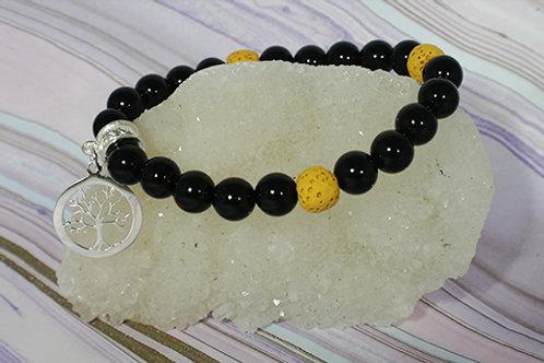 Black Onyx Diffuser Bracelet - Grounding