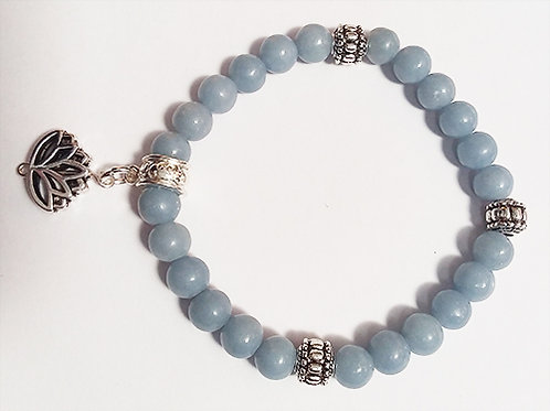 Angelite Bracelet  - Connects you with the angels