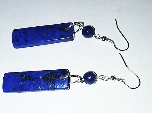 Lapis Lazuli Earrings with Swarovski crystals