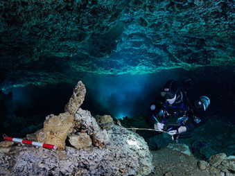 Underwater Caves in Mexico preserve one of the world's oldest ochre mines