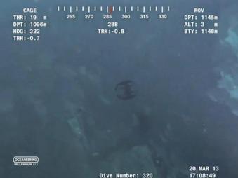 Strange Creature Captured on Military ROV Deep Sea Rover at 3700 Feet