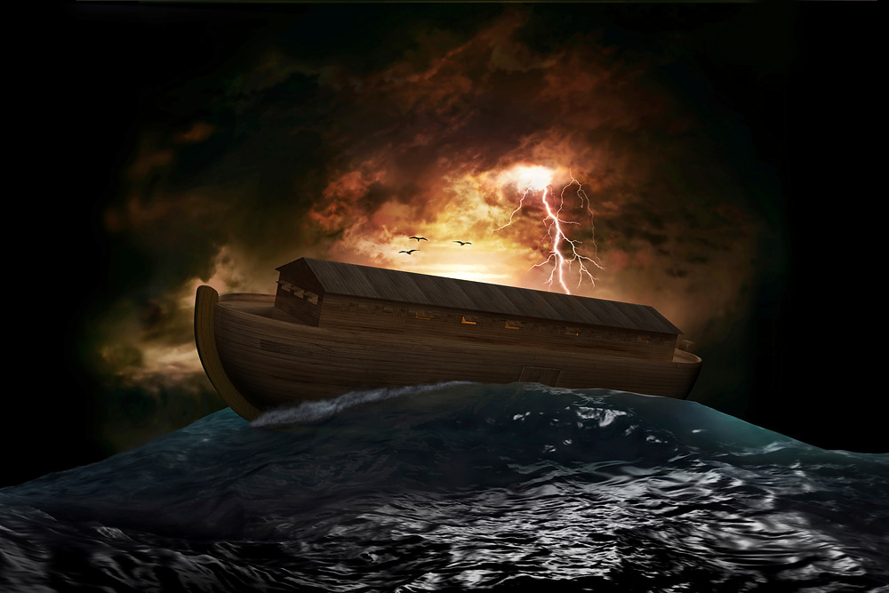 Artist Rendering: Noah's Ark Flood