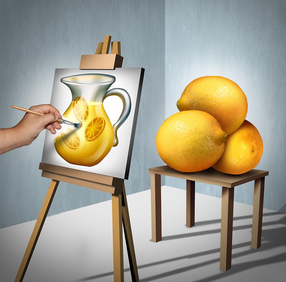 art, lemons, life gives you lemons