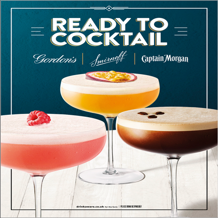 Ready to Cocktail with Gordon's   Smirnoff   Captain Morgan
