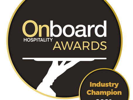 On-board hospitality awards 2021. Industry Champion.