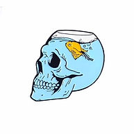 For homepage - Blue Skull Enamel Pin @2x