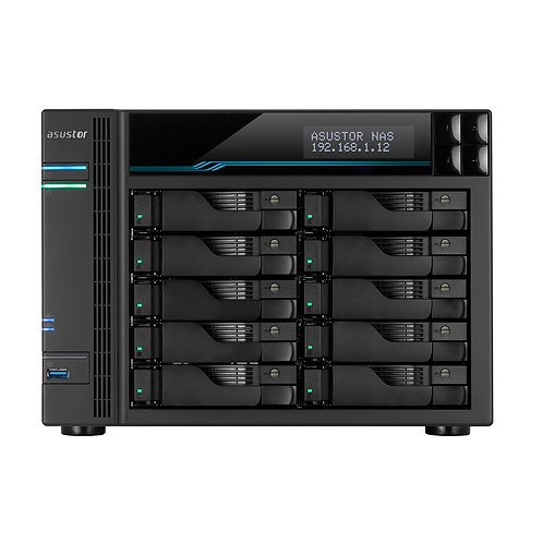 "Asustor AS7110T 10 Bay 3.5"" Intel Xeon Quad-Core Virtualization NAS"