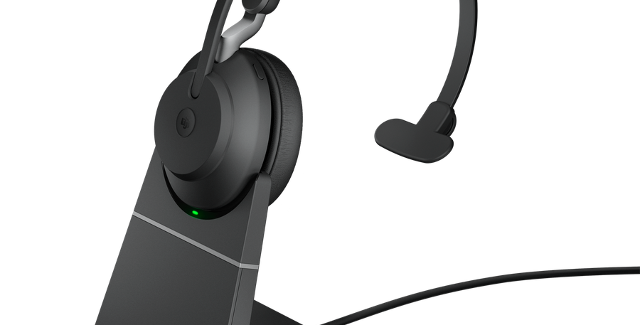 Jabra Evolve2 65 MS USB-C Mono Wireless Stand Black Headset