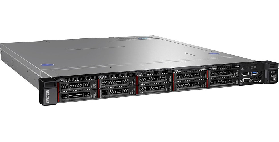 LENOVO ThinkSystem SR250 1U Rack Server, 1xIntel Xeon E-2246G 3.6GHz